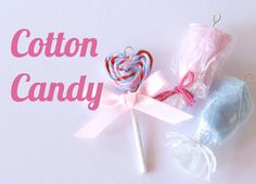 Polymer Clay Miniature Jewelry: Pastel Cotton Candy Charm Pendants
