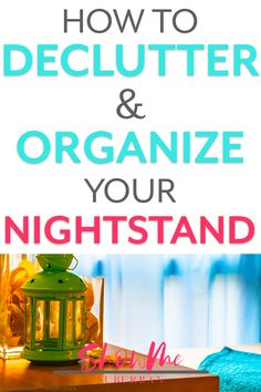 A tidy nightstand means more streamlined mornings and better sleep! Learn how to organize the top, shelves, and drawers of any bedside table! Craft Organization, Bathroom Organization, Organizing, Bedroom Furniture Sets, Bedroom Sets, Furniture Design, Nightstand, Bedside Drawers, Bedside Tables