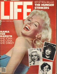LIFE Magazine - October 1981, USA. Main front cover photo of Marilyn Monroe by Bert Reisfeld, alongside smaller images of Joan Crawford, Lana Turner and Shirley Temple