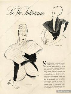Balenciaga & Jacques Fath 1946 René Gruau