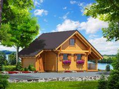 Mazurek IX z dobudówką - Domki ogrodowe - DREWNEX Home Fashion, Cabin, House Styles, Home Decor, Cottage, Log Home, Build House, Decoration Home, Room Decor