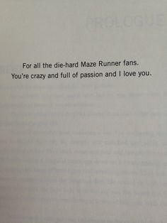 For all of the Die-hard Maze Runner fans