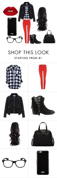 """""""Sin título #84"""" by katherine-molinabts on Polyvore featuring moda, J Brand, Zizzi, Qupid, Furla, Givenchy y Lime Crime"""