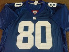 New york giants nfl jersey - shockey #80 - #adult #large - fab #condition,  View more on the LINK: http://www.zeppy.io/product/gb/2/122312080781/