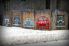 Fence Art by Missi Gregorius, via Flickr