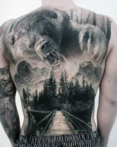 101 Badass Tattoos For Men: Cool Designs + Ideas Guide.- 101 Badass Tattoos For Men: Cool Designs + Ideas Guide) Awesome Hunting Tattoo Ideas For Men – Best Tattoo Ideas For Men: Cool Badass Tattoos For Guys – Awesome Designs - 3d Tattoos, Large Tattoos, Best Sleeve Tattoos, Trendy Tattoos, Animal Tattoos, Body Art Tattoos, Mens Tattoos, Animal Sleeve Tattoo, Geisha Tattoos
