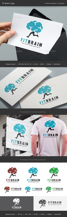 Fit Brain Logo — Vector EPS #fit #idea • Available here → https://graphicriver.net/item/fit-brain-logo/13626115?ref=pxcr