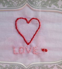 Heart Embroidery for Valentine's Day