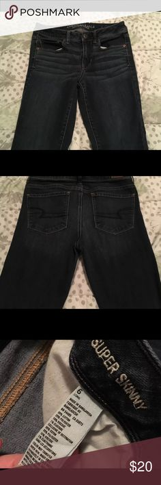 American Eagle Outfitter Super Skinny Jeans Super skinny jeans size 6 long. Super cute and in great shape! No rips, no stains, no problems! Super cute and cozy to wear American Eagle Outfitters Jeans Skinny