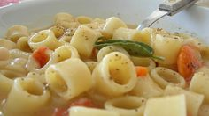 Venice's version of Minestrone soup, Pasta e fasioi, contains short pasta, fava beans, onion, oil, salt and pepper and has been considered a poor man's dish for centuries. Looks easy enough to make at home!