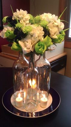958 best rustic wedding centerpieces images on pinterest rustic 15 ways to decorate your wedding with wine bottles junglespirit Image collections