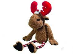 Weihnachten...das Fest der Liebe und Geschenke. Ob als Geschenk oder für den eigenen Hund. Marty den Elch aus Plüsch mit Squeeker wird Ihr Hund zum Spielen gern haben.
