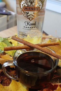 Kissed Caramel Cider! This cocktail is perfect for cold evenings! The caramel apple flavor is fantastic!