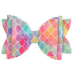 Colourful vinyl bow hair clip by Bowtique London, with a sparkling fish tail print. Handmade Hair Bows, Diy Hair Bows, Bow Hair Clips, Little Girl Hairstyles, Diy Hairstyles, London Girls, Valentines Flowers, Girly Things, Girly Stuff