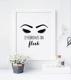 Augenbrauen auf Fleek Make-up bedruckbar von TheLilPrintables