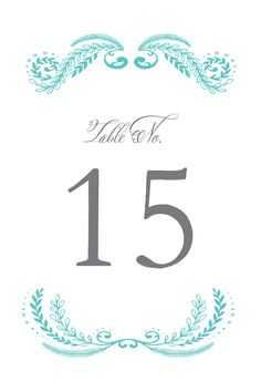 These table numbers have the perfect pop of color for your table. And Wedding Chicks allows you to customize the colors! Source: Wedding Chicks