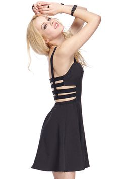 ROMWE | ROMWE Hollow-out Back Camisole Dress, The Latest Street Fashion