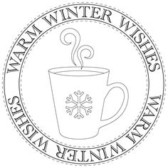warm winter wishes mug sentiment freebie - bjl
