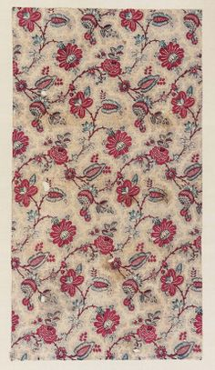 Printed cotton French, 18th century Unfortunately the link no longer works.