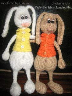 062 Hare, Bear and Cat with accessories - Crochet Pattern PDF file Amigurumi by…