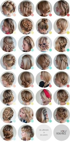 Oh the lovely things: 30 Braids How To