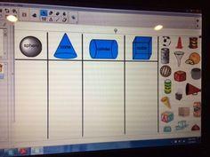 SMART Board Shape Sort for 3-D Shapes.                                                                                                                                                                                 More