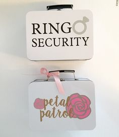 Ring Security  Petal Patrol Boxes Each with by CastleHallCreative