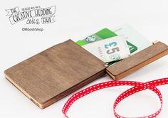 OMGoshShop - The Creative Wedding Fair by Etsy Manchester - Wooden Wallet - Handmade Wallet