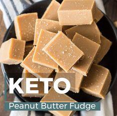 The BEST keto peanut butter fudge! Ultra creamy, three ingredient Keto Peanut Butter Fudge that is only 2 net carbs per slice! The BEST keto peanut butter fudge! Ultra creamy, three ingredient Keto Peanut Butter Fudge that is only 2 net carbs per slice! Peanut Butter Snacks, Low Carb Peanut Butter, Peanut Butter Fudge, Butter Pecan, Low Carb Desserts, Low Carb Recipes, Diet Recipes, Fudge Recipes, Candy Recipes