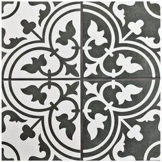"""Artea 9.75"""" x 9.75"""" Porcelain Field Tile in Black"""