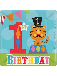 Fisher Price Circus 1st birthday party - first birthday celebration partyware