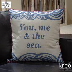 You, Me & The Sea Cushion by Ourlieu $64.95 AUD www.kreohome.com.au