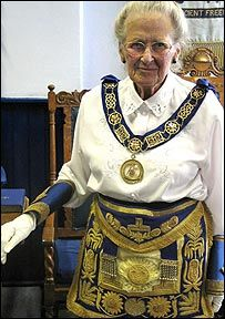 Chief women Freemason, Eileen Grey .