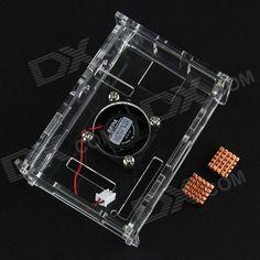 Acrylic Case w/ Cooling Fan + Copper Heatsinks Set for Raspberry Pi - Transparent. Not include Raspberry PI; Not include Raspberry PI camera; Not include RTC clock module for Raspberry PI.. Tags: #Electrical #Tools #Arduino #SCM #Supplies #Raspberry #Pi