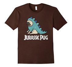 Men's Pug T Shirt Pug Tee Shirt Jurassic Pug Dinosaur T-S...