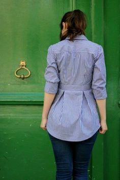 Bruyère Shirt by Mamie Project Sewing Shirts Tanks Tops Kollabora Sewing Shirts, Sewing Clothes, Diy Clothes, Clothes For Women, Sewing Men, Dress Sewing, Refashioned Clothes, Clothes Refashion, Men's Shirt Refashion