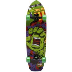 02b0271856 Santa Cruz Skateboards Women Marvel Hulk Hand Cruzer ( 255) ❤ liked on  Polyvore featuring multicolor