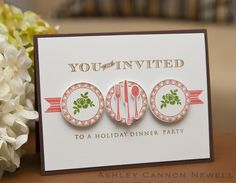 Circles Color Trends Challenge | Holiday Dinner Party Invite