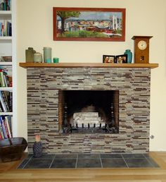 Fireplace Redo Reface Brick Fireplacegl Tile