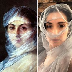 In this bored lockdown period, Getty Museum came up with a challenge. So this is how People recreated famous paintings in their versions Museum Logo, Louvre Museum, Tableaux Vivants, Los Angeles Museum, Frida Art, Famous Portraits, Renaissance Portraits, Famous Artwork, Most Famous Paintings