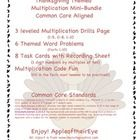 This CC Aligned Mini Bundle has engaging Thanksgiving themed activities for students to do! This bundle provides students practice with their multiplication facts, word problems, multiplying one digit numbers by multiples of ten and a fun, code worksheet where you can fill in the factors you wish to have students practice! Easy way to differentiate!