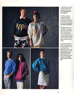 From the 1986 Apple apparel collection.