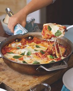 One-Dish Meal: Skillet Lasagna