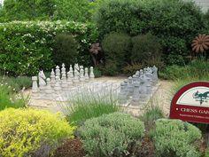 Giant Chess at MacArthur Place Inn: Sonoma