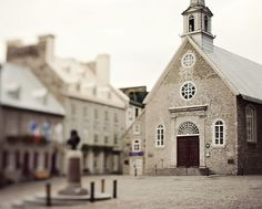 """This square was used in the Spielberg movie """"Saving Private Ryan"""", passing for a small French village. Ste Anne, Chateau Frontenac, Le Petit Champlain, Saving Private Ryan, Quebec City, Abandoned Buildings, Travel Bugs, Far Away, Notre Dame"""