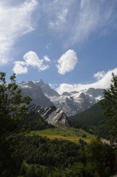 Vue sur La Meije depuis le village de La Grave, Hautes Alpes, France