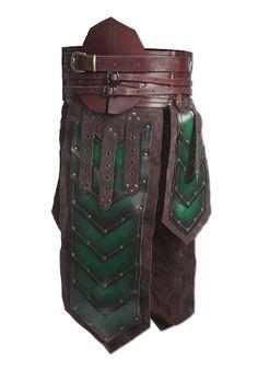Dwarf Armour Skirt, brown/green