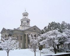 "Snow at the old Vicksburg Mississippi Courthouse by ""†OnlyByGrace"", via Flickr"