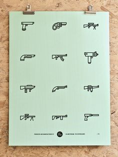 """Guns"", a part of a series of everyday icons, designed by Tim Boelaars"