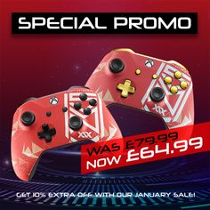 Xbox 360 Controller, Xbox One Pc, Chrome Colour, Red Gold, Bring It On, Price Drop, Don't Forget, January, Gaming